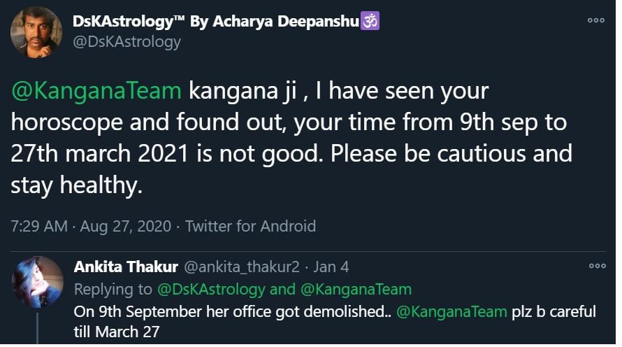 Kangana Ranaut Prediction